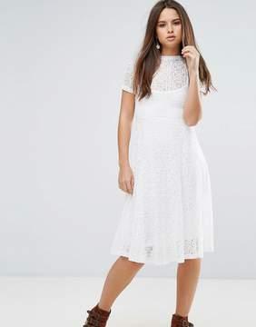 Goldie Romantics Lace Flared Midi Dress With Slip