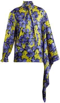 Balenciaga Poppy-print silk-jacquard shirt