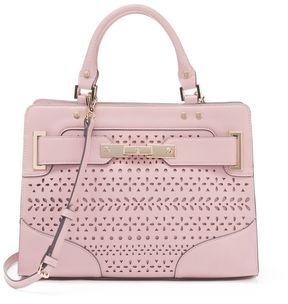 Jennifer Lopez Lola Geometric Perforated Satchel