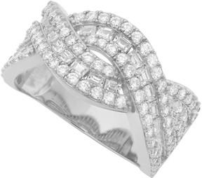 Crislu CZ Pave Twisted Band Ring