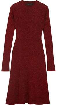 Cédric Charlier Metallic Ribbed-Knit Dress