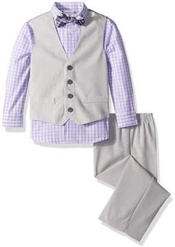 Van Heusen Moon Gray & Lavender Four-Piece Suit - Toddler