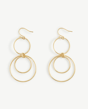 Ann Taylor Triple Circle Drop Earrings