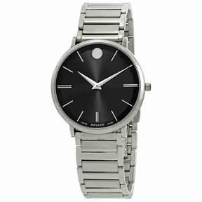 Movado Ultra Slim Black Dial Men's Watch 0607167