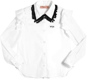 N°21 Embellished Cotton Poplin Shirt