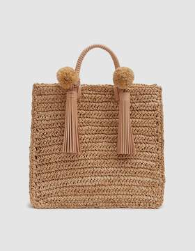 Loeffler Randall Straw Travel Tote in Natural