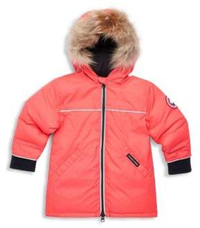 Canada Goose Baby's Reese Down-Filled and Fur-Trimmed Jacket