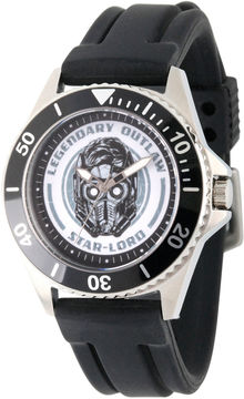 Marvel Guardian Of The Galaxy Mens Black Strap Watch-Wma000097