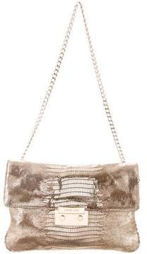 MICHAEL Michael Kors Embossed Chain-Link Shoulder Bag