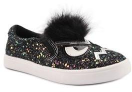 Nina Toddler Girl's Alyx Faux Fur Glittery Slip-On Sneaker