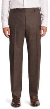 Zanella Solid Virgin Wool Trousers