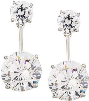 FANTASIA Round CZ Crystal Double-Drop Earrings