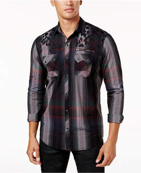 INC International Concepts I.n.c. Men's Mixed-Print Shirt, Created for Macy's