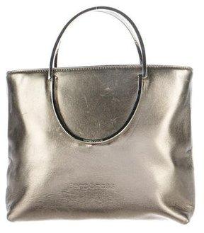 Sergio Rossi Metallic Leather Crossbody Bag