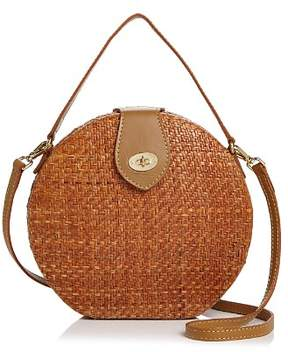 Kayu Peyton Medium Round Straw Crossbody