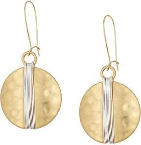 Robert Lee Morris Two-Tone Wire Wrap Sharp Hook Earrings Earring