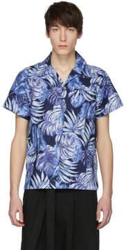 Naked & Famous Denim Denim Navy Aloha Shirt