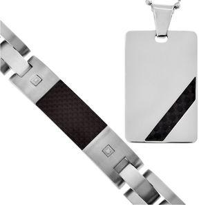 JCPenney FINE JEWELRY Mens Diamond-Accent Dog Tag Pendant Necklace & Bracelet 2-Pc. Set