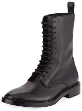 Balenciaga Lace-Up Leather Combat Boot
