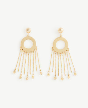 Ann Taylor Circle Chain Statement Earrings