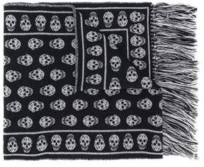 Alexander McQueen Men's Black Wool Scarf.