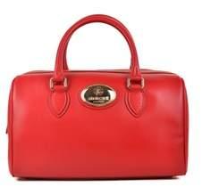 Roberto Cavalli Firenze Red Leather Duffle Satchel Bag