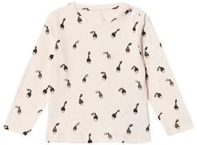 Emile et Ida Cream Hazelnut Print T-Shirt
