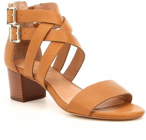 Antonio Melani Dresden Criss-Cross Leather Block Heel Sandals