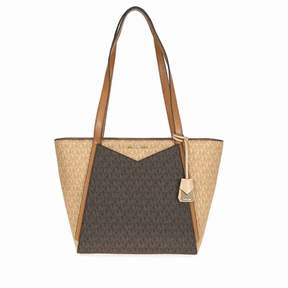 Michael Kors Whitney Signature Logo Tote - Brown/Acorn - BUTTERNUT/BROWCORN - STYLE