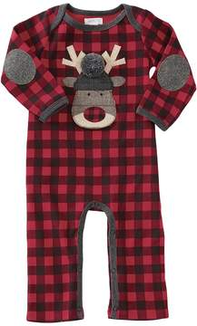 Mud Pie Buffalo Check Reindeer One-Piece Boy's Jumpsuit & Rompers One Piece