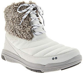 Ryka Faux Fur Water Repellent Lace-up Boots -Addison