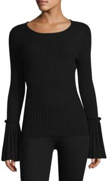 Design History Pleated Bell Sleeve Sweater