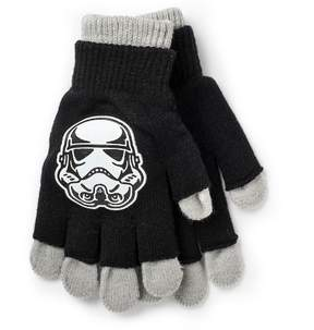 Star Wars Kids' Double Layer Gloves Gray/Black One Size