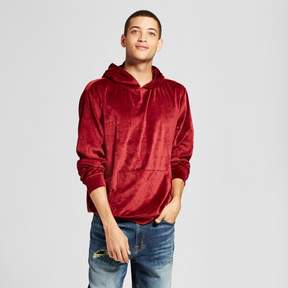 Jackson Men's Long Sleeve Velour Hooded Sweatshirt Burgundy