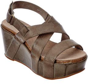 Antelope Leather Wedge Sandal