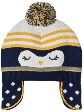 Absorba Navy Penguin Knit Bobble Hat