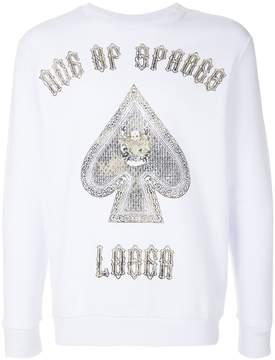 John Richmond print long-sleeve sweatshirt