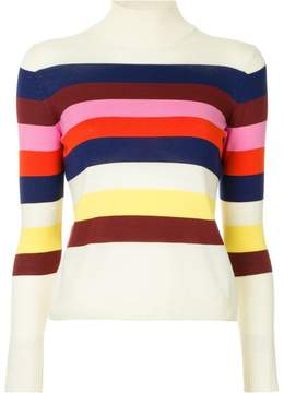 DELPOZO multi-coloured stripe sweater