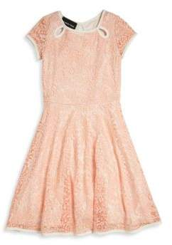 Un Deux Trois Girl's Teardrop Lace Dress