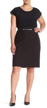 Atelier Luxe Swiss Dot Skirt (Plus Size)