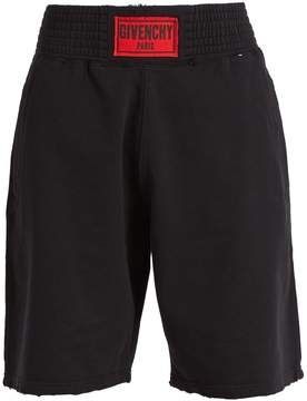 Givenchy Logo-patch cotton-jersey shorts