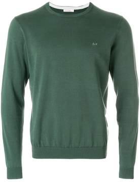 Sun 68 elbow patch detail sweatshirt
