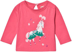 Hatley Pink Parade Horse Long Sleeve Mini Tee