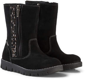 Primigi Black Zip Gore-Tex Ankle Boots with Diamante Detail