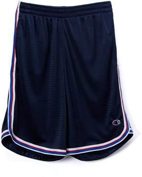 Champion Navy Stripe-Trim Mesh Shorts - Boys