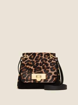 DKNY Baylee Leopard Flap Crossbody