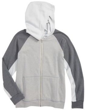 Tucker + Tate Boy's Colorblock Zip Hoodie