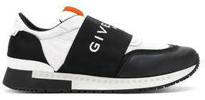 Givenchy Men's White/black Leather Slip On Sneakers.