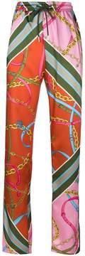 Pinko printed straight trousers