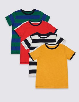 Marks and Spencer 4 Pack Pure Cotton Tops (3 Months - 5 Years)